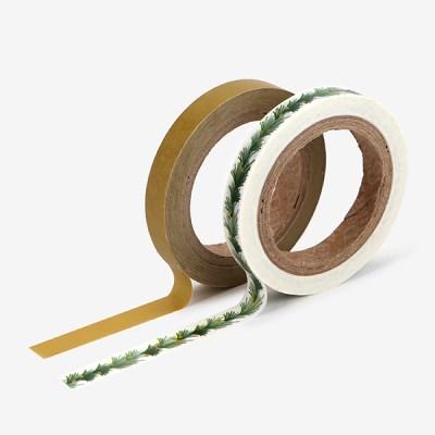 Masking tape slim 2p - 04 Tree garland