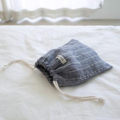Blue Linen Pouch