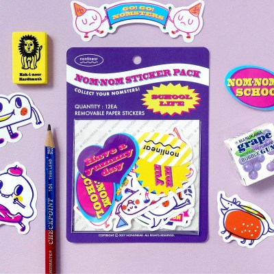 Nom-nom Sticker Pack_School Life