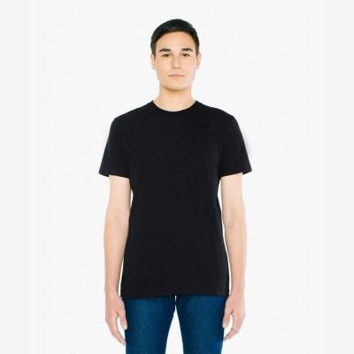 베이직 라운드 반팔 티셔츠 블랙 2001W