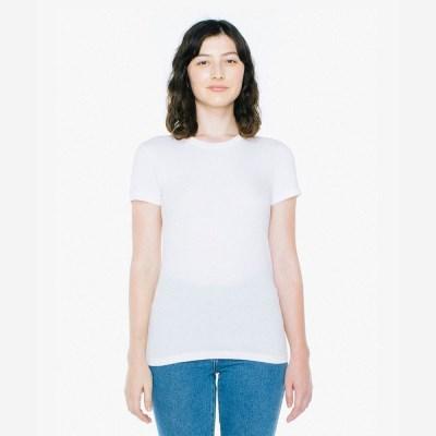 베이직 여성 라운드 반팔 티셔츠 화이트 2102W