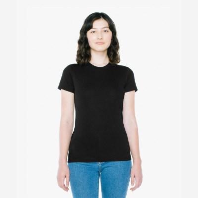 베이직 여성 라운드 반팔 티셔츠 블랙 2102W