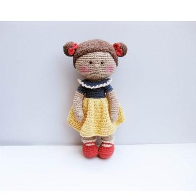 [손뜨개 DIY]손뜨개인형-백설미미