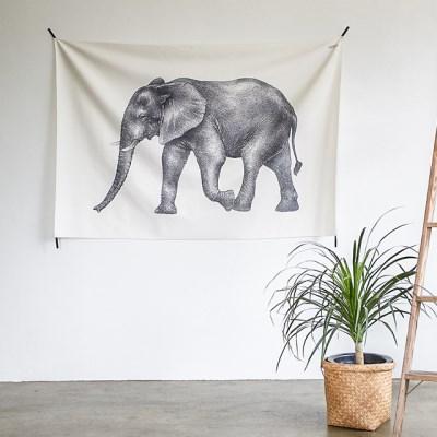 코끼리 패브릭 포스터 / 가리개 커튼