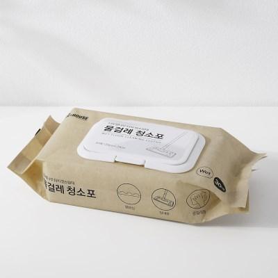 너도밤나무 터치 청소밀대 물걸레 청소포 30매