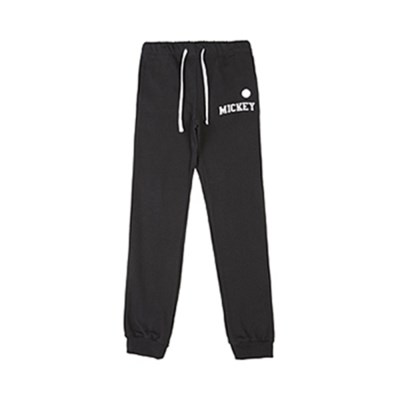WHITE BLANK MICKEY JOGGER PANTS (BLACK)