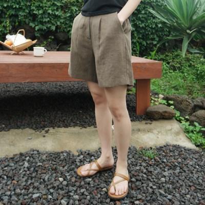 [MONDAY STUDIO] Daily pintuck linen short pants