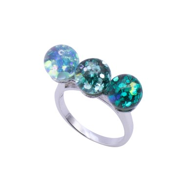 그라데이션 트리플 스노우볼 반지(Triple Snowball Ring)