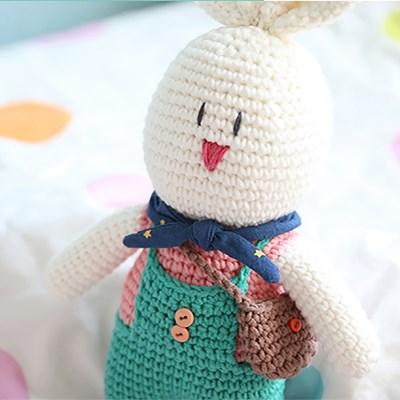hobbyful 손뜨개 토끼인형 만들기 온라인 취미 클래스 키트