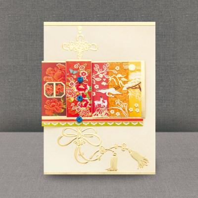 홍색모란카드 FT3005-1