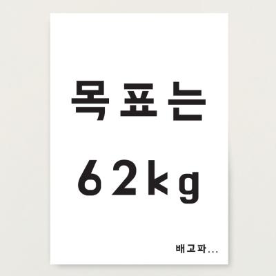 다이어트 목표 몸무게 포스터
