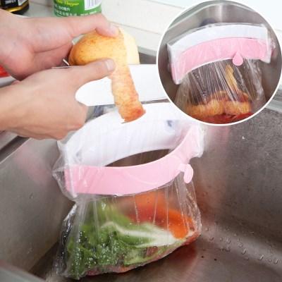 다용도 비닐봉투 밀폐 홀더 음식물쓰레기 봉투 홀더