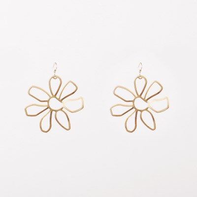 sunflower matte earring