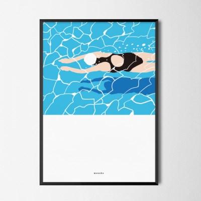 유니크 인테리어 디자인 포스터 M 수영2