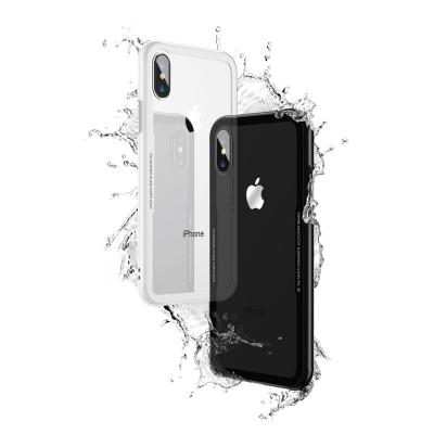 아이폰8/8플러스/XS 후면 크리스탈 0.7mm 강화유리 범퍼케이스