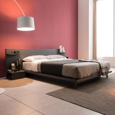 [잉글랜더]스미스 평상형 침대(NEW E호텔양모라텍스 7존독립매트-퀸)