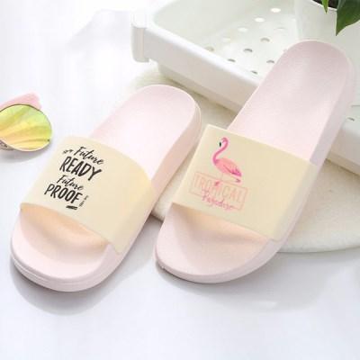 홈 욕실 사무실 실내화 편안한 쿠션 슬리퍼 Flamingo_(845610)