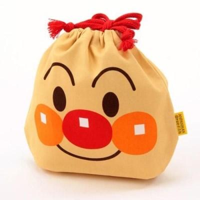 [일본수입]호빵맨 페이스 면 파우치-110902