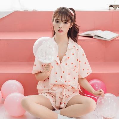 [안녕잘자] 당일발송 미니스트로베리 여름반팔 잠옷세트