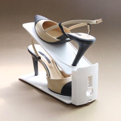 좁은현관 공간활용 높이조절 슈즈렉 신발 수납정리대_(851821)