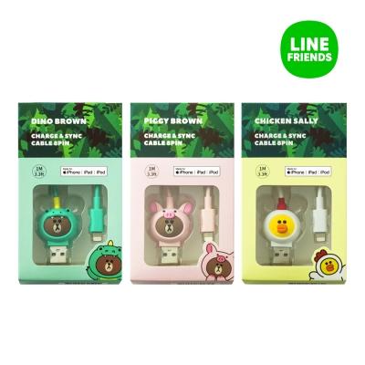 [라인프렌즈]정글브라운 아이폰8핀 충전케이블