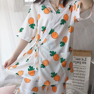 [안녕잘자] 당일발송 파인애플 유카타 잠옷세트