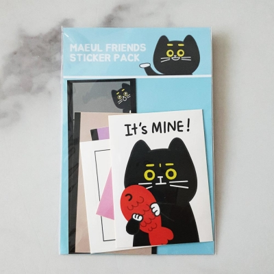 마을프렌즈 스티커팩 : 고양이