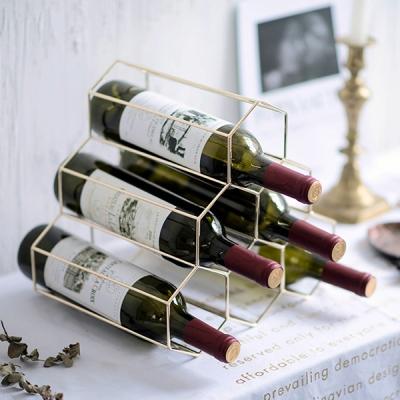 골드 와인 거치대 6구 와인렉 와인랙