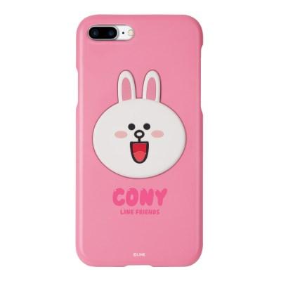 라인프렌즈 송풍구 거치 케이스 컬러 슬림핏 코니 아이폰7+/8+
