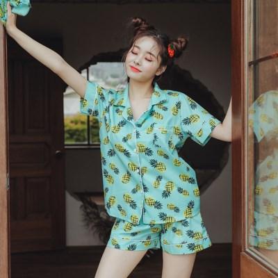 [안녕잘자] 당일발송 파인애플 여름반팔 잠옷세트