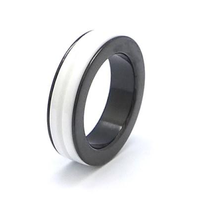 바스카 세라믹 화이트 라인 반지