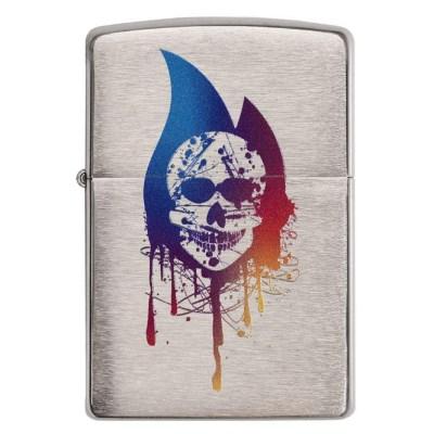 주문폭주 특별할인 名品 [ZIPPO] 29721 Skull Flame_(1311480)