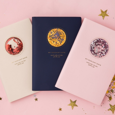 [막스] Diary - Hardcover with Flakes (B6 Weekly Left)