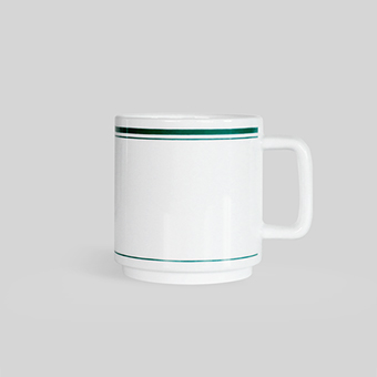 FLASK Cafe mug_Olive green