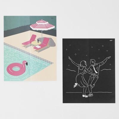 여름, 밤 인테리어 포스터 / 페이퍼 포스터