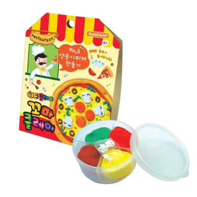 꼬마클레이 - 양송이 피자 만들기