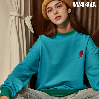 WASABI X DAMINI Collabo Basic Color Combo Embo Sweatshirt_Sora