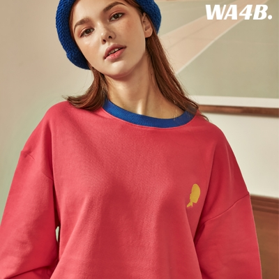 WASABI X DAMINI Collabo Basic Color Combo Embo Sweatshirt_Pink