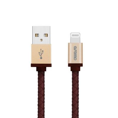 어뮤즈 MFI인증 메탈릭 레더 아이폰 8핀 USB 충전 케이블 NCB-06