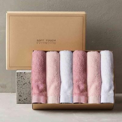 뱀부얀 호텔수건 선물세트 6매 (핑크톤)