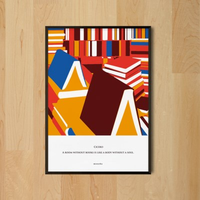 유니크 인테리어 디자인 포스터 M 책이 있는 방 독서 키케로