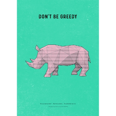 [아트프린트] 코뿔소