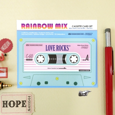 Cassette Card Set_Rainbow Mix