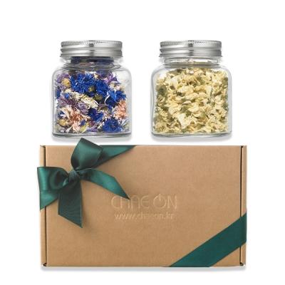 [단독] 채온 보랏빛향기 꽃차 선물세트