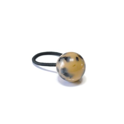 leopard ball elastic band (beige)