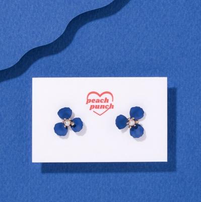 진주골드 3꽃잎 귀걸이