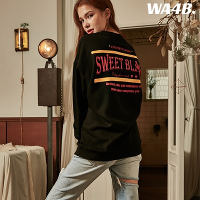 Sweet Black Graphic Over-Fit Sweat shirt_Black