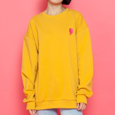 WASABI X DAMINI Collabo Basic Over-Fit Sweat shirt_Yellow