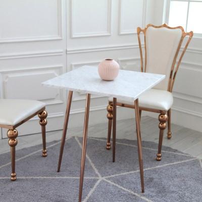 샤론 로즈골드 대리석 사각 테이블