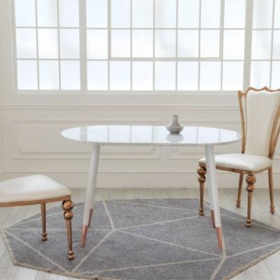 천연 대리석 로빈 타원형 식탁 테이블